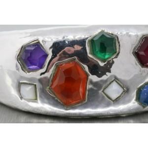 Ippolita Bracelet Fatto A Mano Sterling Silver Cuff Gemstone Glamazon RARE