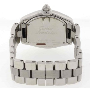 Cartier Roadster Ladies Pink Sunray Dial 30MM Stainless Steel Watch W62017V3