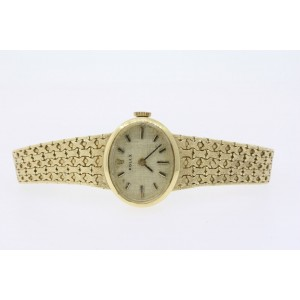 """Rolex Ladies Watch Vintage 14k Yellow Gold Oval Face Manual Wind 1400 6.25"""""""