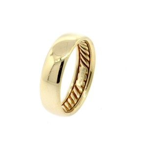 David Yurman Classic Cable Mens Ring Wedding Band 18k Yellow Gold sz 9.5 $1550