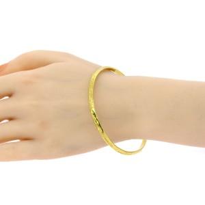 "Denise Roberge Bangle Bracelet 22k Yellow Gold 8.5"" Interior 26.3g Textured"