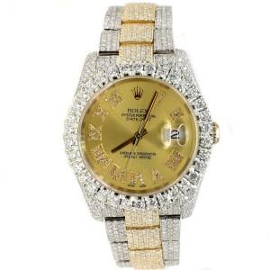 Rolex Datejust 36mm 2-Tone 17.7ct Diamond-Paved Watch/Diamond Roman Numerals