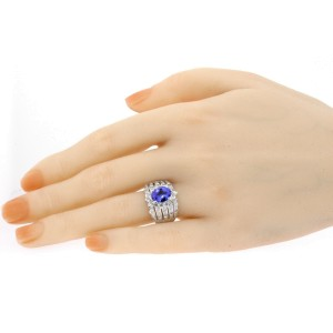 Levian 1.75ct Tanzanite 1ct Diamond Ring Oval Wide Band 18k White Gold sz 8