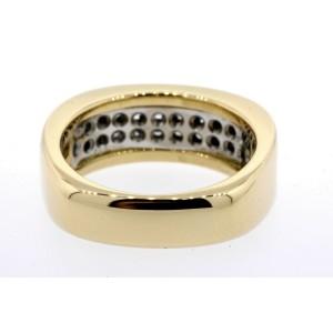 Gubelin Diamond Band Ring .66ct FG VS Pave 2 Row 18k Yellow Gold size 6.5