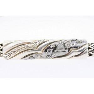"John Hardy Lahar Diamond Bracelet Sterling Silver Classic Chain 7.25"" $1100"