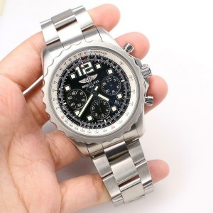 Breitling Chronospace Chronograph 46MM Black Dial Steel Watch A23360 Papers
