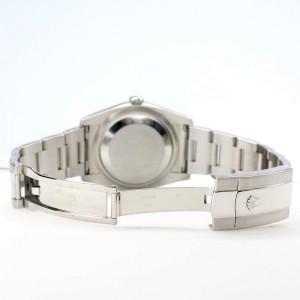 Rolex Datejust 36MM Steel Oyster/Custom Diamond Bezel/Black Diamond Dial 116200