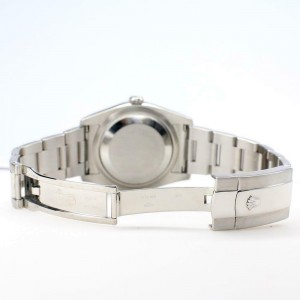 Rolex Datejust 36MM Steel Oyster/Custom Diamond Bezel/Blue Diamond Dial 116200