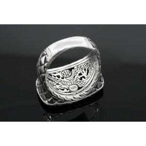 John Hardy Ring Mens Basketweave Braided Signet Sterling Silver size 10