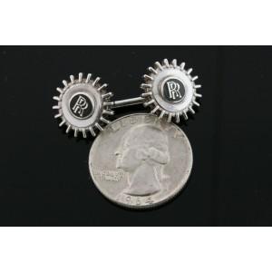 Rolls Royce RR Logo Sterling Silver Cufflinks England Vintage