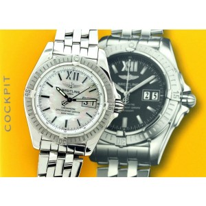 Breitling Cockpit Big Date 41mm Automatic Watchw/White MOP Dial A49350