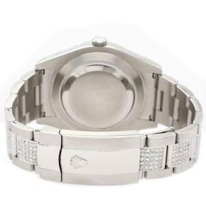 Rolex Datejust II 41MM Watch w/MOP Diamond Dial Bezel Bracelet 116300 Box Papers