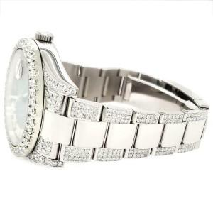 Rolex Datejust II 41mm Diamond Bezel/Lugs/Bracelet/Imperial Red Dial Watch