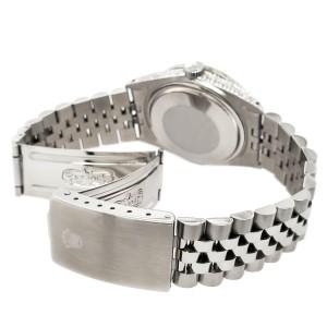 Rolex Datejust 36mm Steel Watch 2.85ct Diamond Bezel/Pave Case/Turquoise Dial
