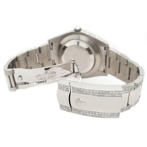 Rolex Datejust II 41mm Diamond Bezel/Case/Bracelet/Aquamarine Dial Box Papers