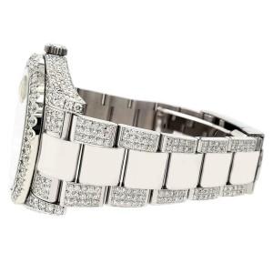 Rolex Datejust II 41mm 10.3CT Diamond Bezel/Case/Bracelet/Pink Pearl/