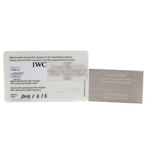 IWC Portuguese Black Dial Manual Wind Steel Mens Watch