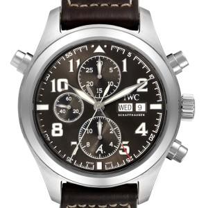 IWC Spitfire Pilot Saint Exupery Rattrapante Mens Watch IW371808 Box Card