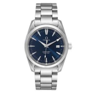 Omega Seamaster Aqua Terra Blue Dial Steel Mens Watch 2518.80.00