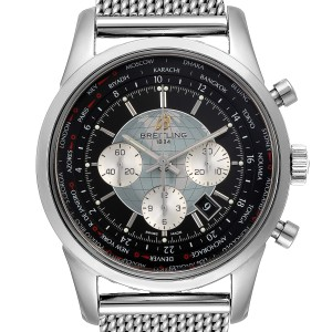Breitling Transocean Chronograph Unitime Mens Watch AB0510 Box Papers