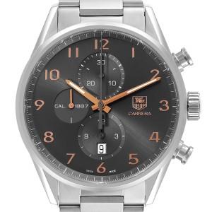 Tag Heuer Carrera 1887 Grey Dial Chronograph Mens Watch CAR2013