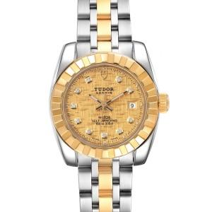 Tudor Classic Date Steel Yellow Gold Diamond Ladies Watch