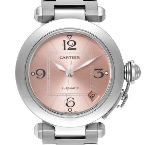 Cartier Pasha C Midsize Pink Dial Automatic Ladies Watch