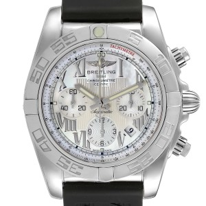 Breitling Chronomat 01 MOP Dial Steel Mens Watch AB0110 Box Papers