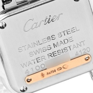 Cartier Panthere Ladies Steel Rose Gold Diamond Watch W3PN0006 Box Papers