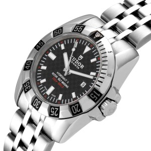 Tudor Hydronaut II Stainless Steel Black Dial Ladies Watch