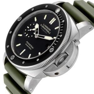 Panerai Luminor Submersible 1950 Titanium Amagnetic Watch PAM00389 Box Papers