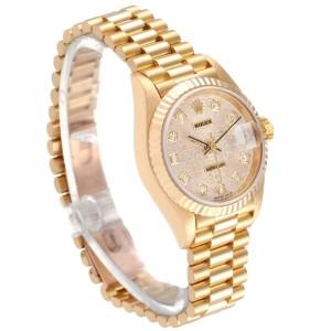 Rolex President Datejust Yellow Gold Diamond Dial Ladies Watch