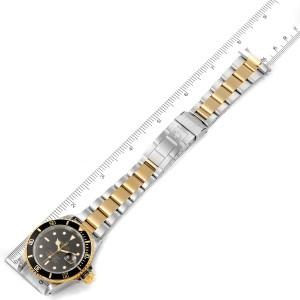 Rolex Submariner Black Dial Steel Yellow Gold Mens Watch