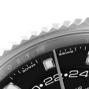 Rolex Sky-Dweller Black Dial Steel White Gold Mens Watch