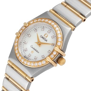 Omega Constellation 95 Mother of Pearl Diamond Watch 1267.75.00
