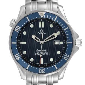 Omega Seamaster 41mm James Bond Blue Dial Steel Watch