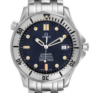 Omega Seamaster Blue Wave Decor Dial Steel 300m Watch 2532.80.00
