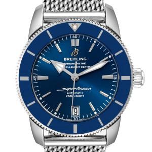 Breitling Superocean Heritage II 42 Blue Dial Steel Mens Watch