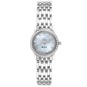 Omega DeVille MOP Diamond Stainless Steel Ladies Watch