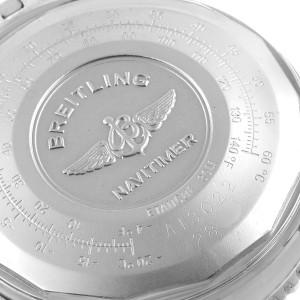 Breitling Navitimer II Blue Arabic Numeral Dial Steel Mens Watch