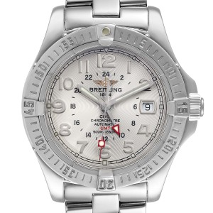 Breitling Colt GMT Silver Dial Automatic Steel Mens Watch A32350