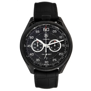 Tag Heuer Carrera Chronograph Grey Dial Carbon Mens Watch
