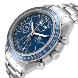 Omega Speedmaster Day Date Blue Dial Chronograph Watch