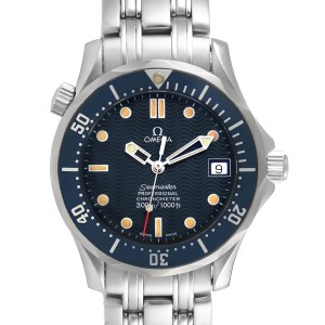 Omega Seamaster Midsize 36mm Blue Dial Steel Mens Watch