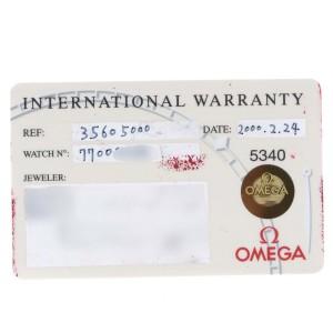 Omega Speedmaster Apollo XI 30th Anniversary Moonwatch 3560.50.00 Card
