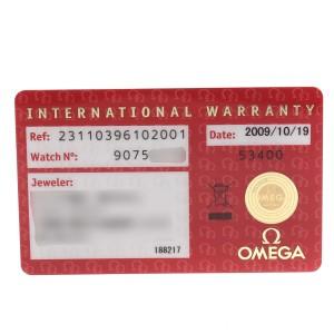 Omega Seamaster Aqua Terra Mens Steel Mens Watch 231.10.39.61.02.001 Card
