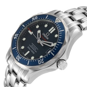 Omega Seamaster Midsize 36mm Co-Axial Blue Dial Watch 2222.80.00 Box Card