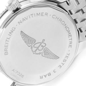 Breitling Navitimer 1 Silver Dial 41mm Steel Mens Watch A17326 Box Card