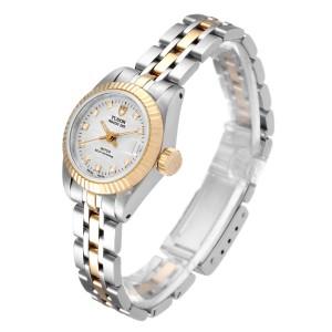 Tudor Princess Date Steel Yellow Gold Silver Diamond Dial Watch