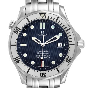 Omega Seamaster Blue Wave Decor Dial Steel 300m Watch